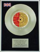 "GERRY & THE PACEMAKERS - 7"" Platinum Disc -YOU'LL NEVER WALK ALONE"